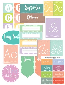 Colorful Classroom Decor Set