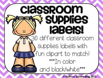 Supplies Labels