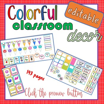 Colorful Classroom Theme Editable