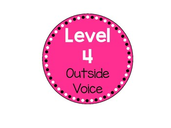 Colorful Classroom Voice Check Voice Levels Signs