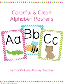 Colorful & Clean Alphabet Posters