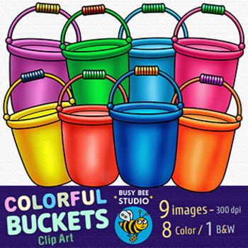 Colorful Clip Art | Buckets