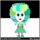 Clown Clip Art ~ 15 Colorful Clown Girl Images ~ Transpare