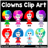 Clown Clip Art ~ 15 Colorful Clown Images ~ Transparent .PNGs