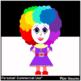 Clown Girl Clip Art