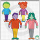Colorful Cartoon Clip Art People