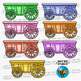 Colorful Clip Art | Wagons