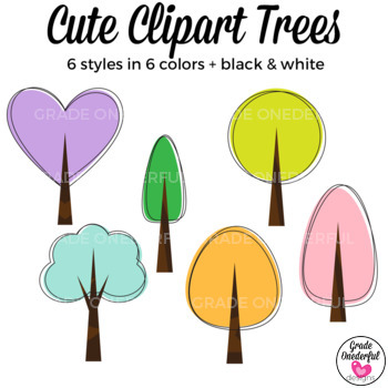 Colorful Doodle Trees