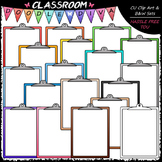 Colorful Clipboards - Clip Art & B&W Set