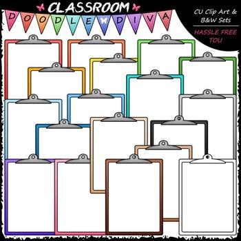 Colorful Clipboards Clip Art