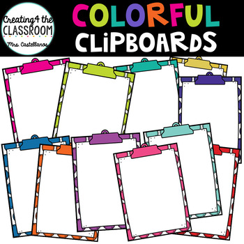 Colorful Clipboards and Frames {Clip art and Frames}