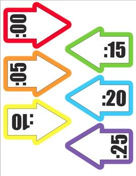 Colorful Clock Labels