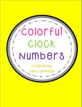 Colorful Clock Numbers