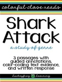Shark Attack Genre Study- Colorful Close Reads