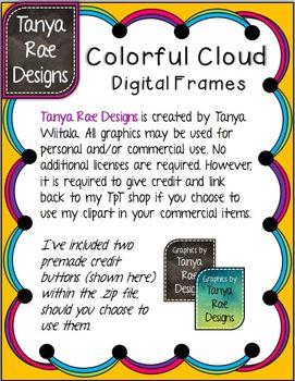 Colorful Cloud Digital Frames