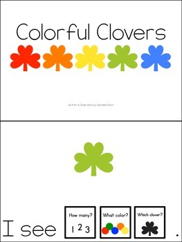 Colorful Clovers: Count and Color Adapted Book
