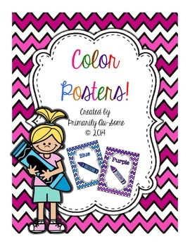 Colorful Color Posters with Chevron Backround
