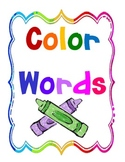 Colorful Colors Word Wall