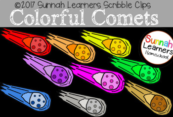 Colorful Comets Clip Art
