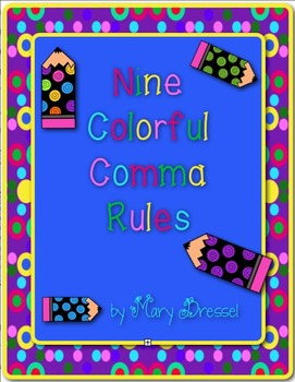 Color-Coding Comma Fun with 9 Rules (20 worksheets included!)
