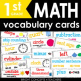 Math Vocabulary Cards for First Grade {Common Core Aligned}