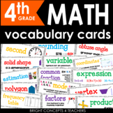 Math Vocabulary Cards for Fourth Grade {Common Core Aligned}