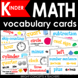 Math Vocabulary Cards for KINDERGARTEN {Common Core Aligned}