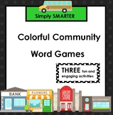 Colorful Community Words:  SMARTBOARD Color Word Games