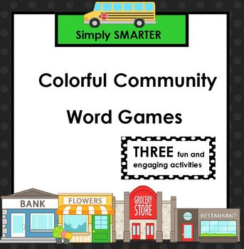 SMARTBOARD Community Themed Color Word Games