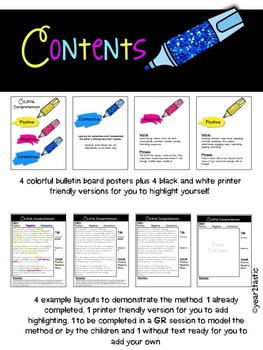 Colorful Comprehension Strategy: Opinion Texts {year2tastic}