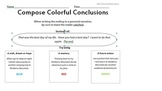 Colorful Conclusions