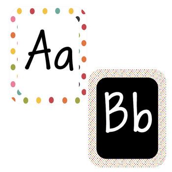 Colorful Confetti-Alphabet Print