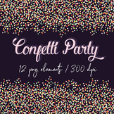 Confetti Borders Clip Art, Colorful Confetti Borders