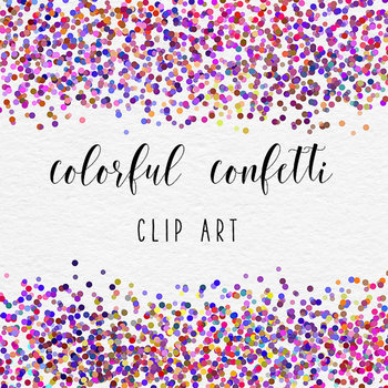 Colorful Confetti - Celebration Clipart