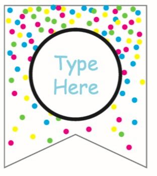 Colorful Confetti Editable Labels