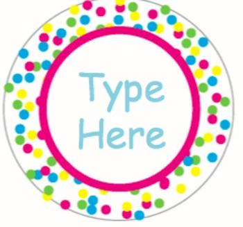 Colorful Confetti Editable Labels