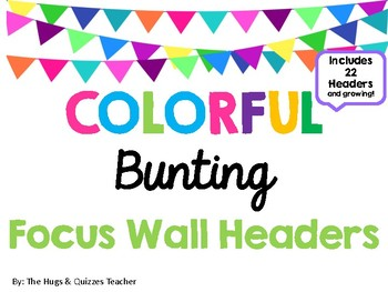 Colorful Bunting Focus Wall Headers