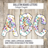 Colorful Confetti Letters