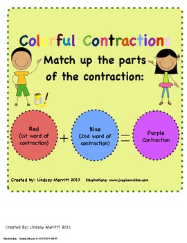 Colorful Contractions Match