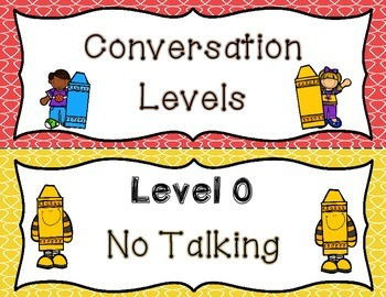 Colorful Conversation Level Posters