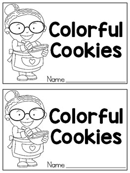 Colorful Cookies Emergent Reader
