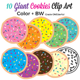 Colorful Cookies with Sprinkles Clip Art