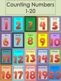 Kindergarten Number Cards