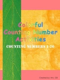 Colorful Counting Numbers 1 - 20