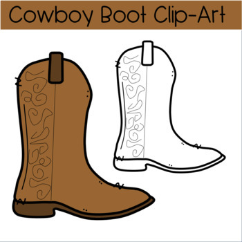 Colorful Cowboy Boot Clipart