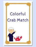 Colorful Crab Match: File Folder Game