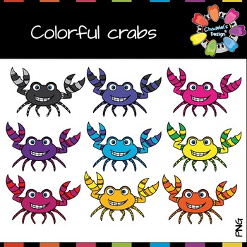 Colorful Crabs Clips
