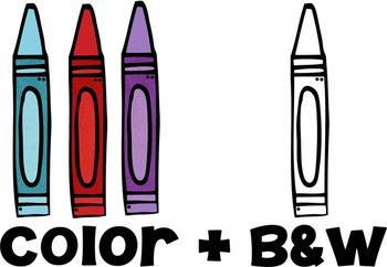 Colorful Crayon Clip Art FREEBIE