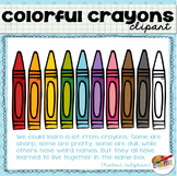 Colorful Crayon Clip Art FREEBIE
