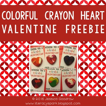 Colorful Crayon Heart Valentine Freebie